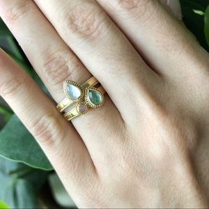 Anna Beck Gold Teardrop Stacking Ring Set